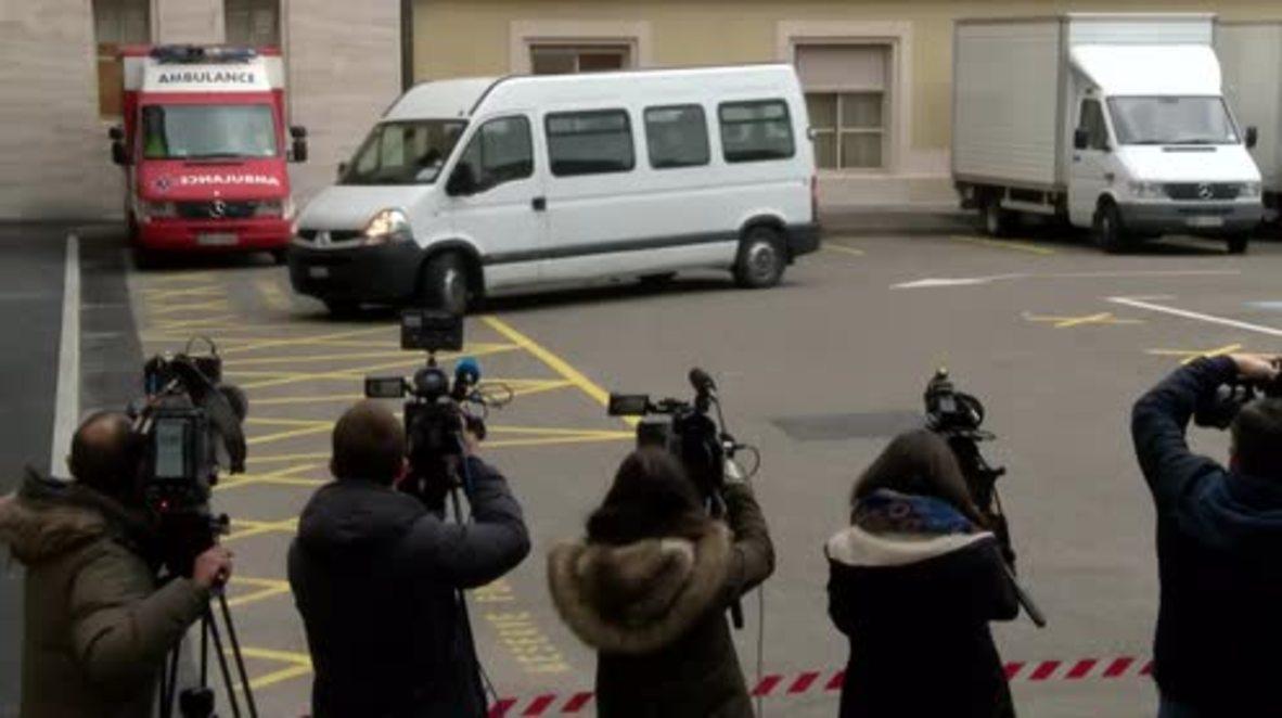 Switzerland: Syrian opposition leaders arrive for meeting with UN's de Mistura