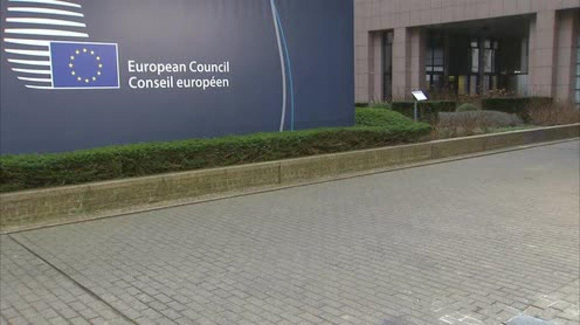 Belgium: Davutoglu arrives in Brussels to discuss EU-Turkey refugee deal