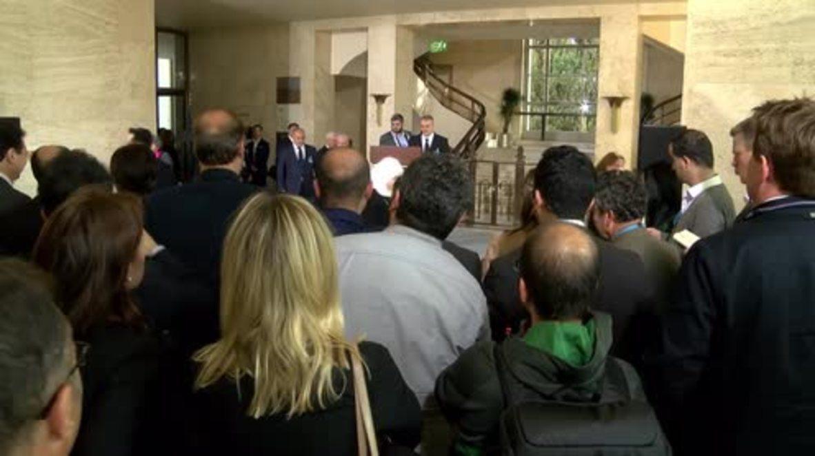 Switzerland: HNC chief al-Zoubi condemns Brussels attacks