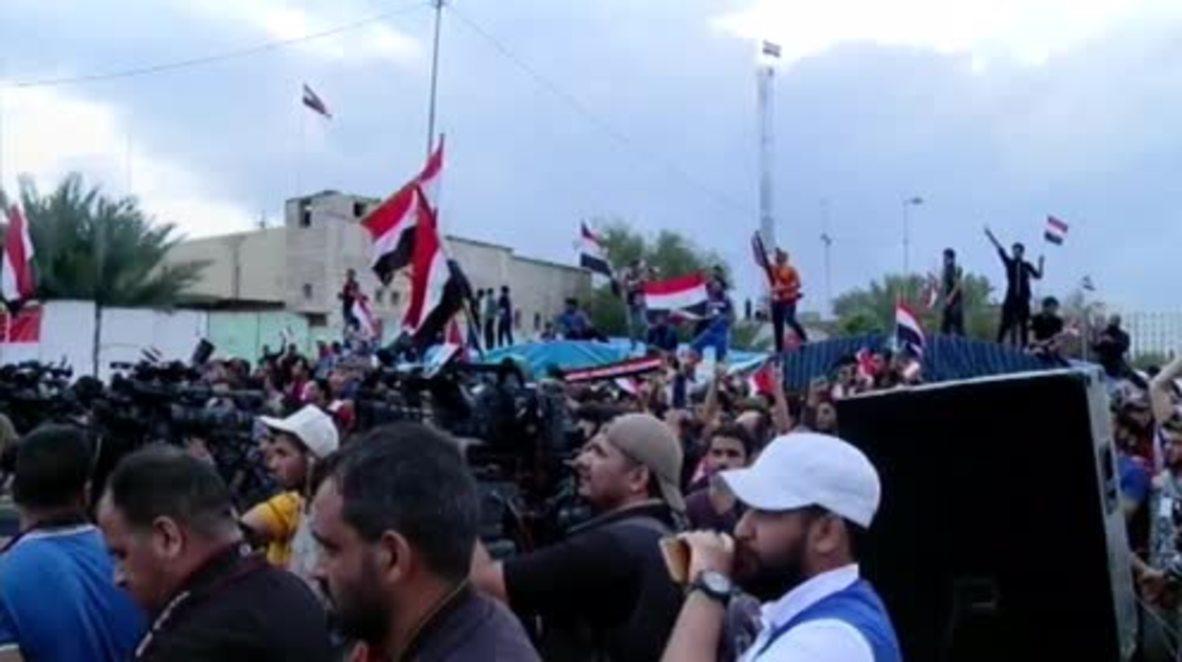 Iraq: Shia cleric Sadr leads thousands into Bagdad's Green Zone