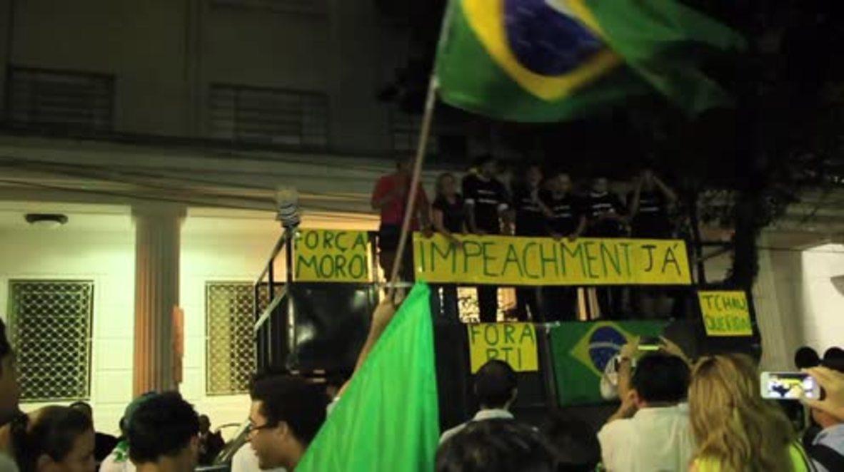 Brazil: Sao Paulo students demand Rousseff's impeachment