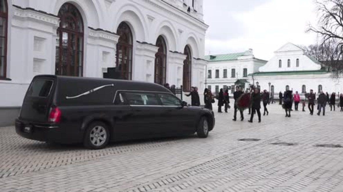 Ukraine: Funeral held for killed lawyer Yuri Grabovsky