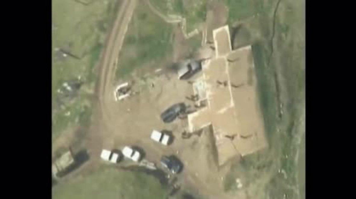 Nagorno-Karabakh: Baku releases footage of destruction of separatist command centre