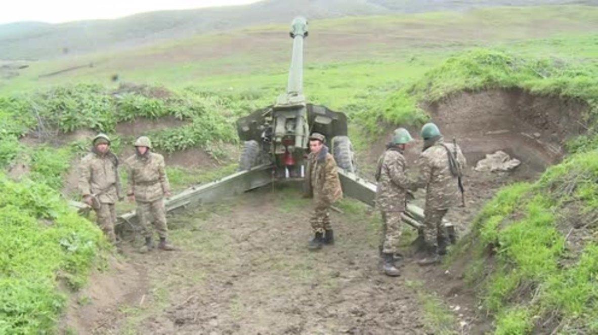 Nagorno-Karabakh: Armenian troops man positions near Martakert
