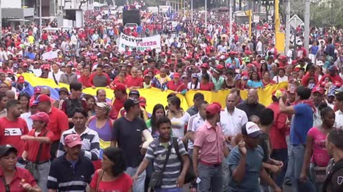 Venezuela: 1000s rally behind Maduro against 'Criminal Amnesty' law