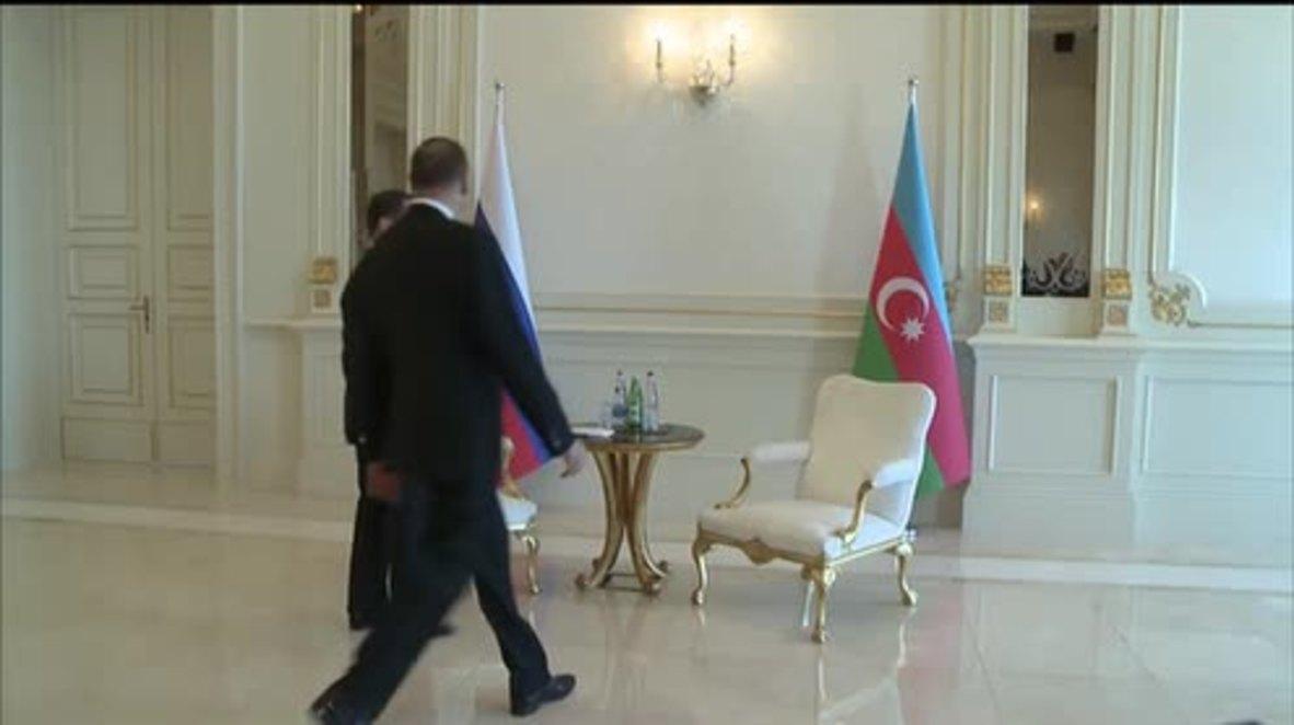 Azerbaijan: Medvedev and Pres. Aliyev talk Nagorno-Karabakh conflict in Baku