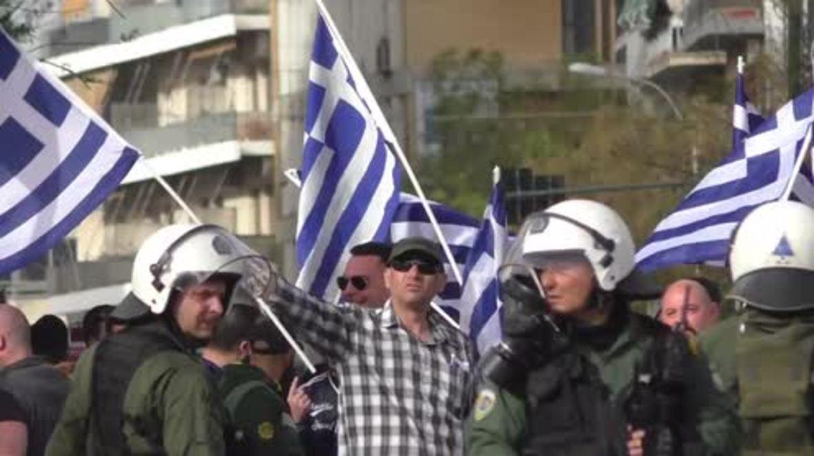 Greece: Golden Dawn rally against refugees in Piraeus