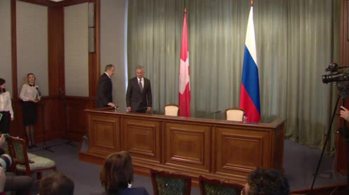 Russia: Swiss FM praises Russia's efforts over Nagorno-Karabakh settlement