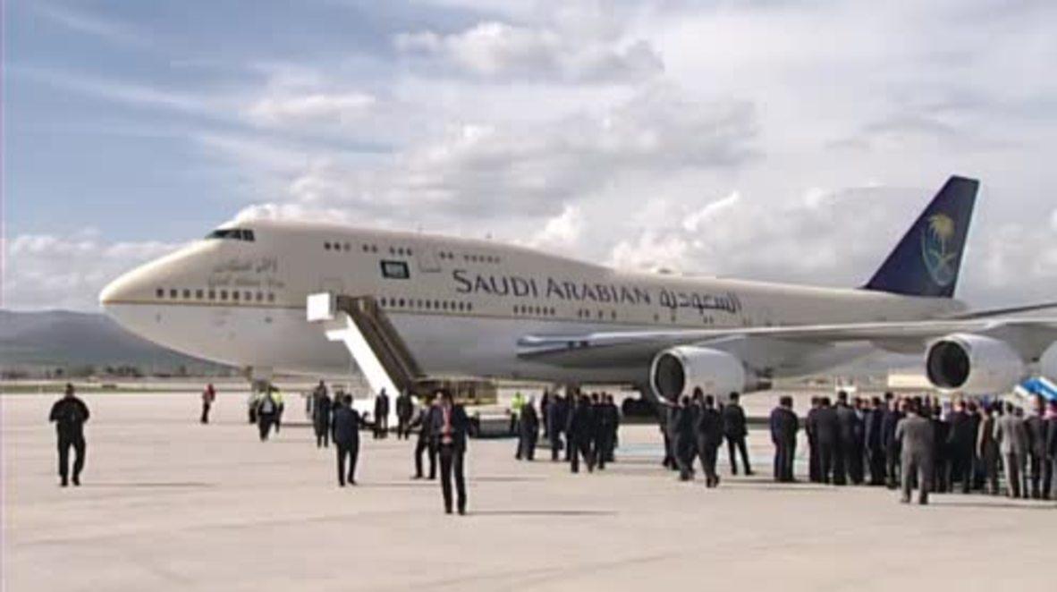 Turkey: Saudi King Salman welcomed by Erdogan ahead of Syria talks