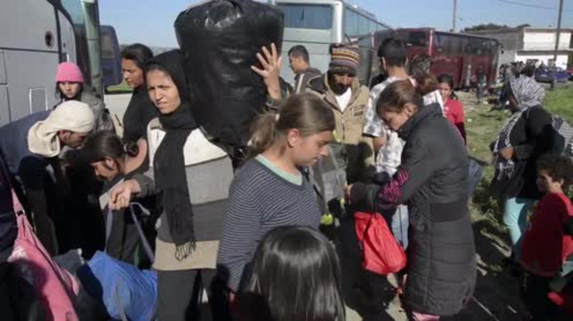Greece: Idomeni refugees moved to new site near Katerini