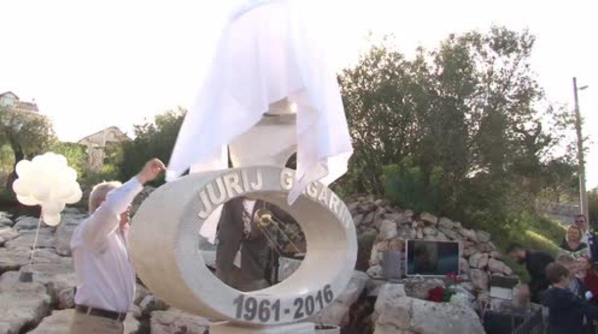Montenegro: Yuri Gagarin monument unveiled for Cosmonautics Day