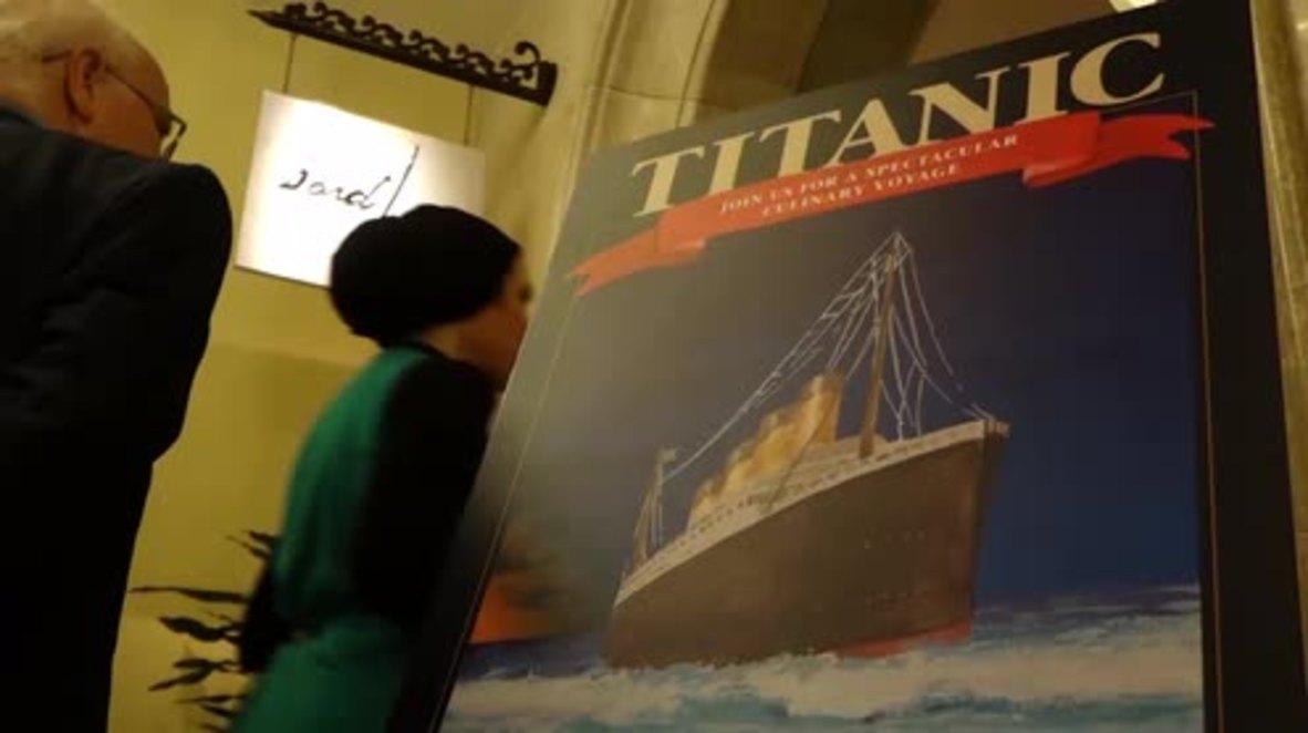 UAE: Diners enjoy Titanic passengers' last meal in Abu Dhabi