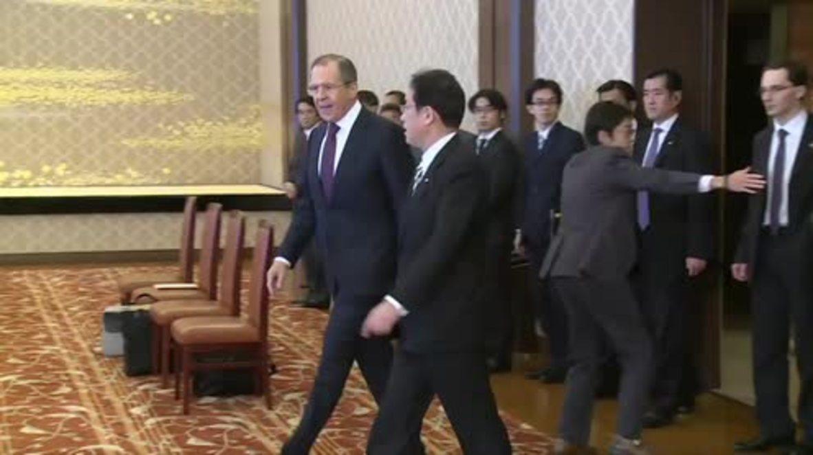 Japan: Lavrov holds bilateral talks with FM Kishida in Tokyo