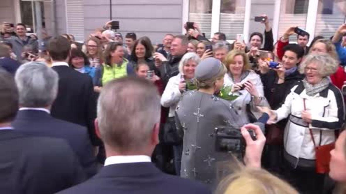Germany: Queen Maxima raises German eyebrows with 'swastika' coat