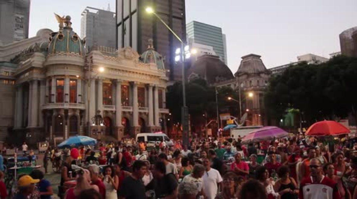 Brazil: Protesters decry 'coup' in Rio ahead of Rousseff's impeachment vote
