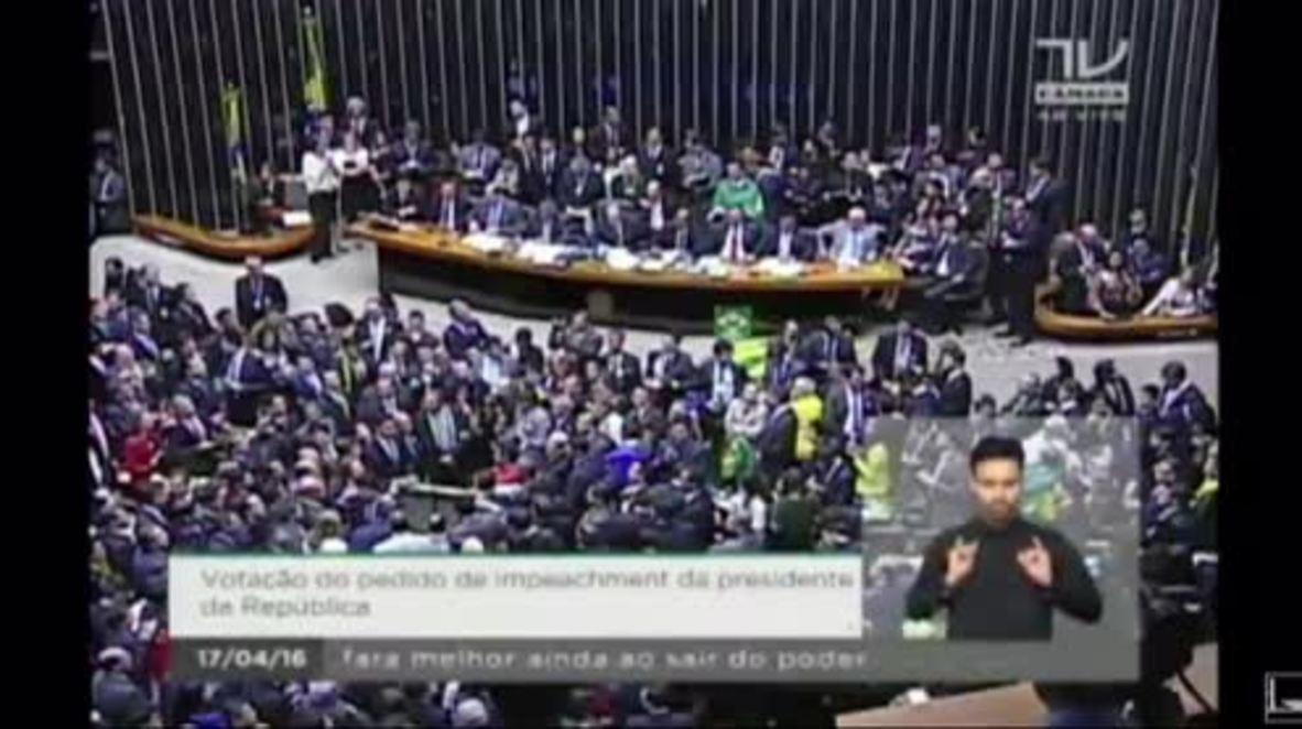 Brazil: Congress votes on Rousseff's impeachment