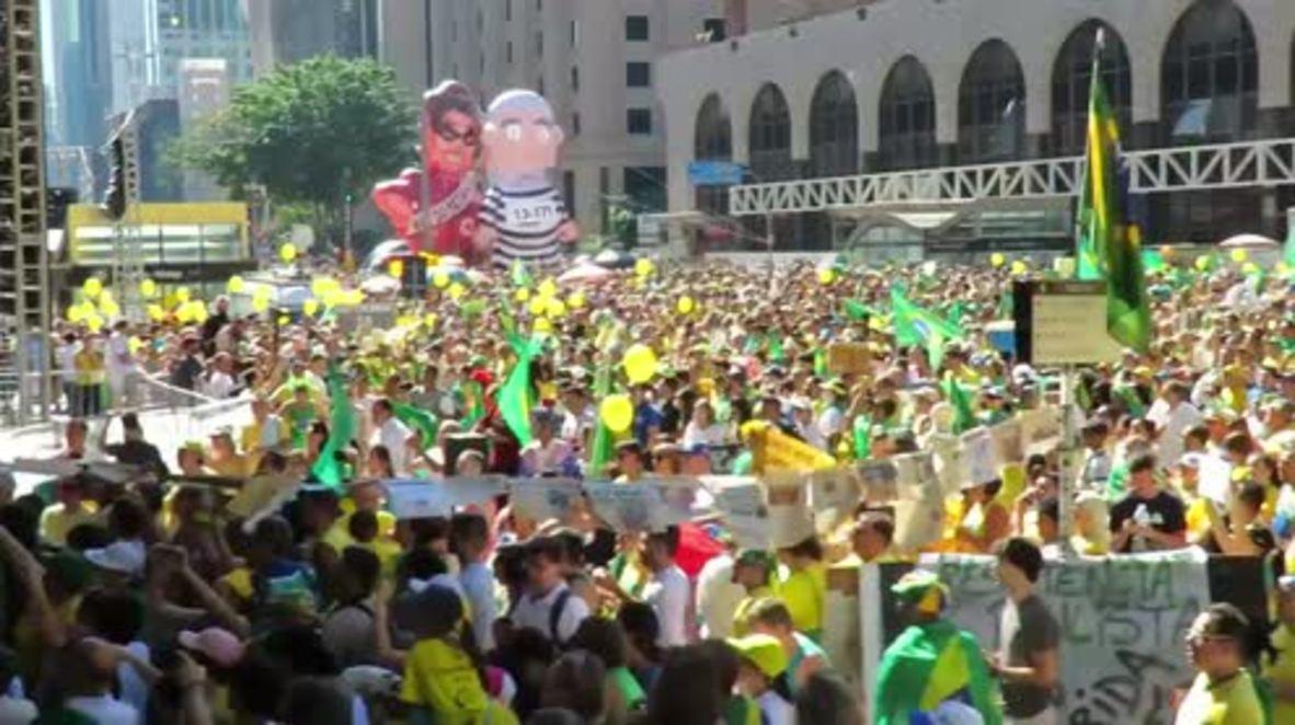 Brazil: Protesters await Rousseff impeachment vote in Sao Paulo