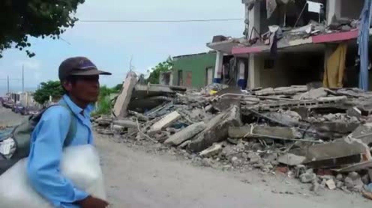 Ecuador: Rescue crews continue search while quake death toll reaches 350