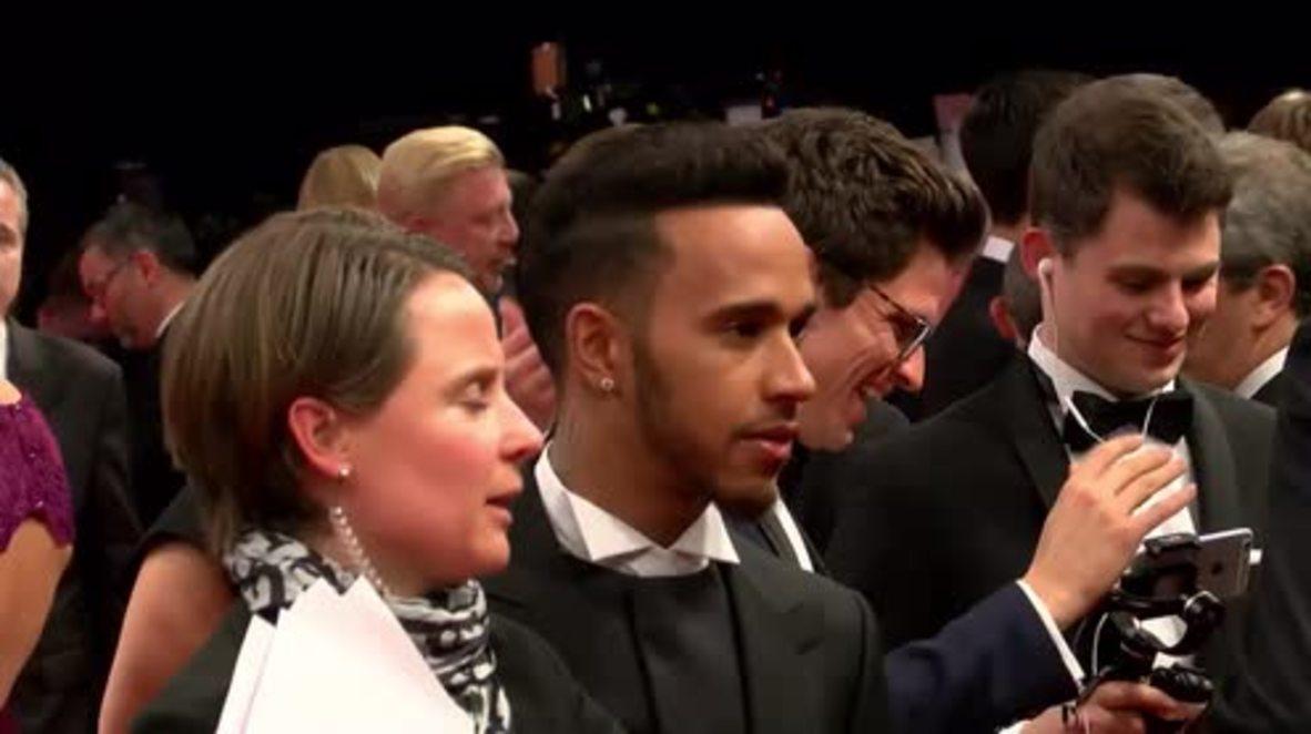 Germany: Sports celebrities hit red carpet for Laureus Awards in Berlin