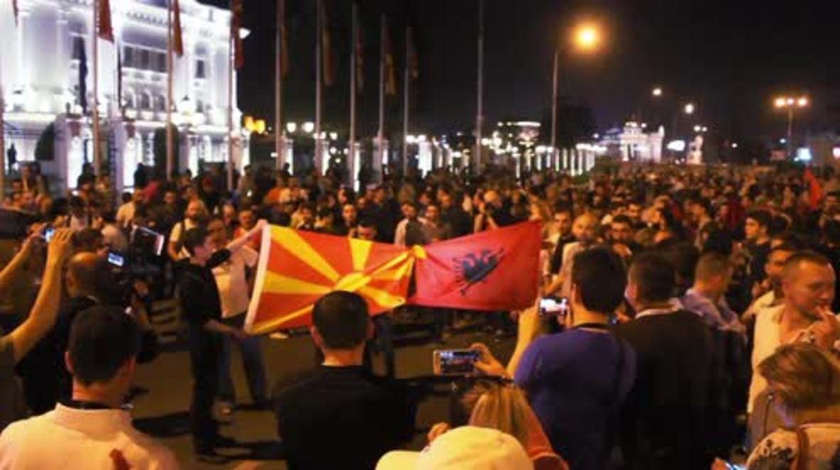 Macedonia: Anti-govt. protests continue in Skopje