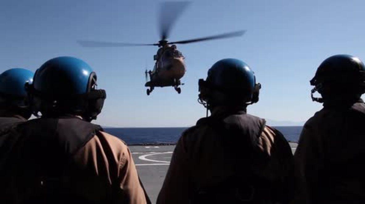 Greece: Stoltenberg visits NATO ship patrolling the Aegean Sea