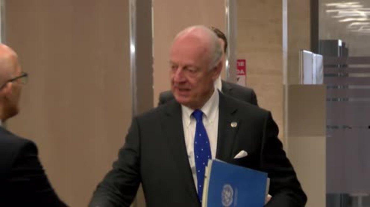 Switzerland: Jaafari discusses Syrian peace process with UN envoy de Mistura