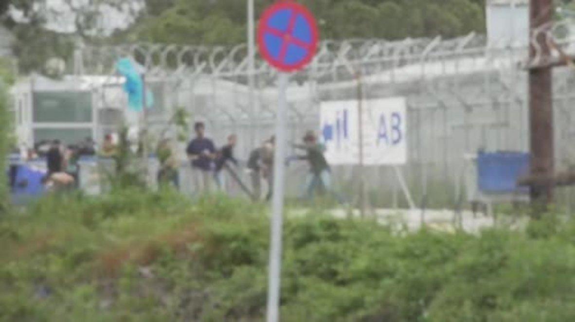 Greece: Several injured as riot erupts at Moria refugee centre