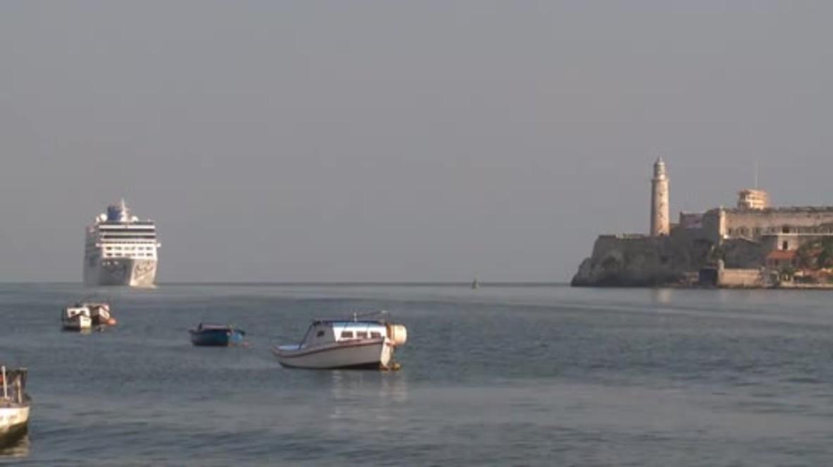 Cuba: First US cruise ship arrives in Havana since Cuban Revolution