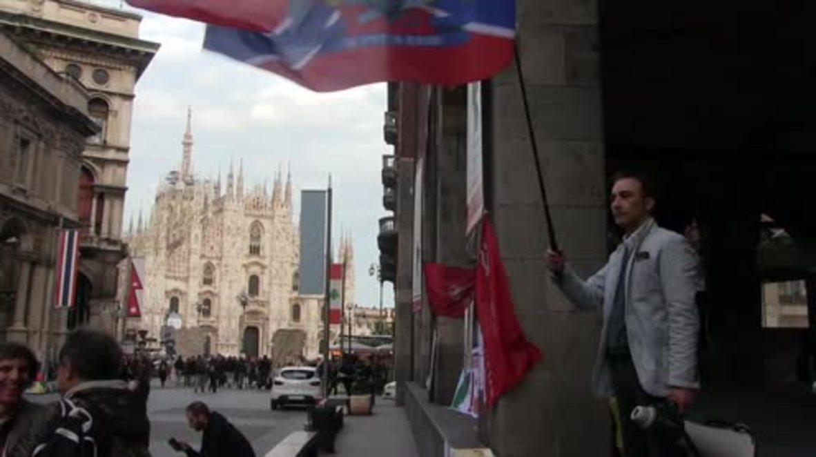 Italy: Pro-Maidan protester disrupts Odessa massacre rally in Milan