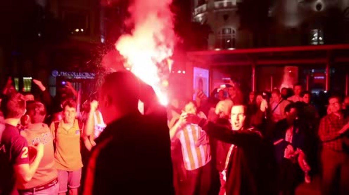 Spain: Fans celebrate as Atletico Madrid secure Champions League final spot