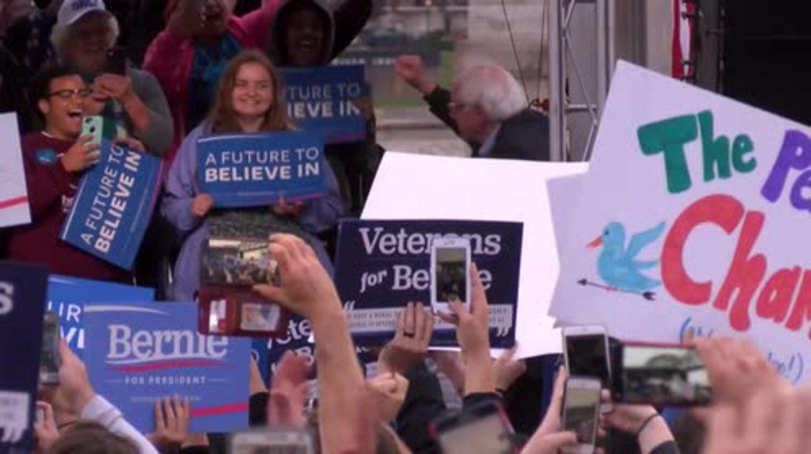 USA: Sanders rallies in Louisville ahead of Kentucky primary