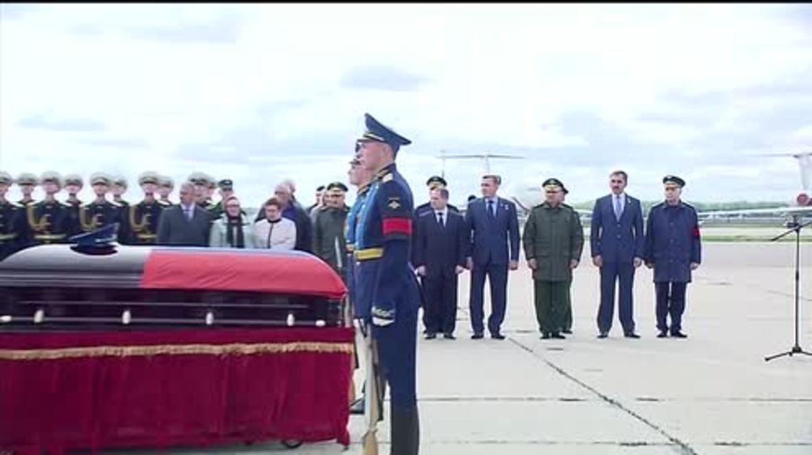 Russia: Body of Aleksandr Prokhorenko departs Moscow for Orenburg funeral