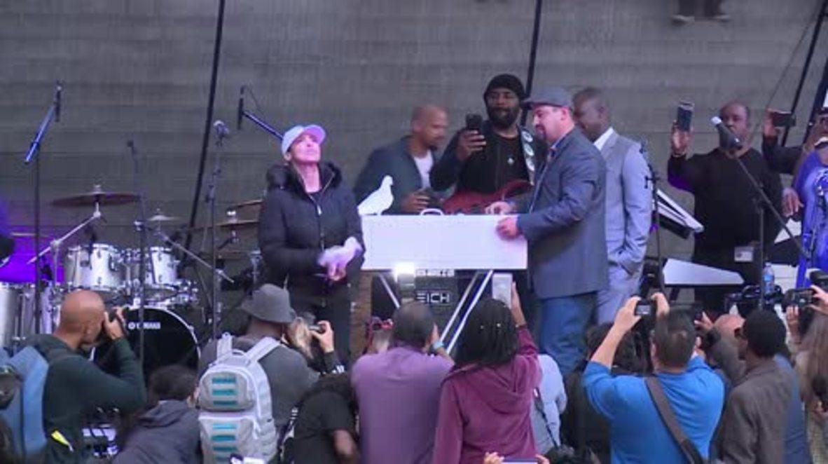 USA: Stevie Wonder leads Prince memorial concert in LA