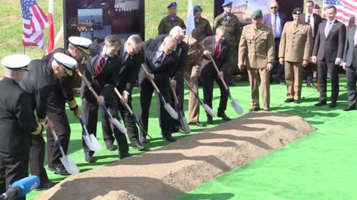 Poland: NATO officials break ground on Aegis Ashore missile defence complex