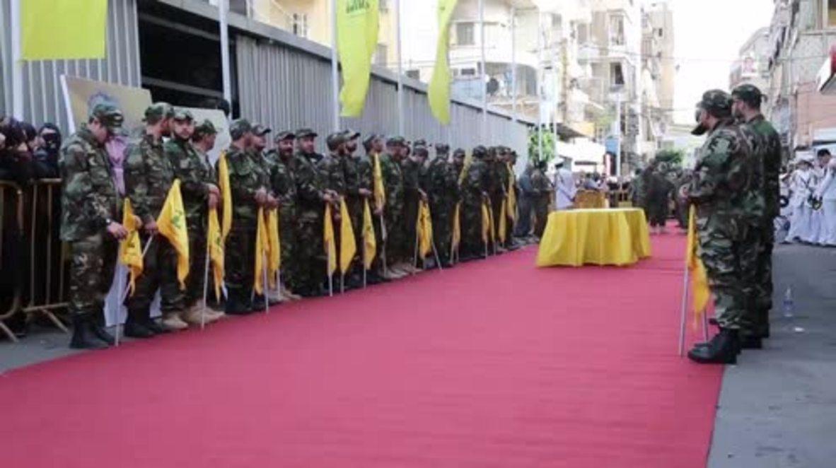 Lebanon: Hundreds mourn loss of top Hezbollah commander