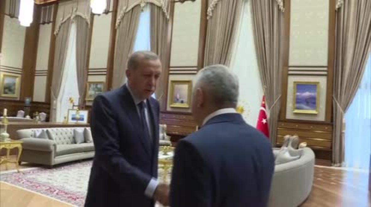 Turkey: Erdogan gives newly elected PM Yildirim mandate to form new cabinet