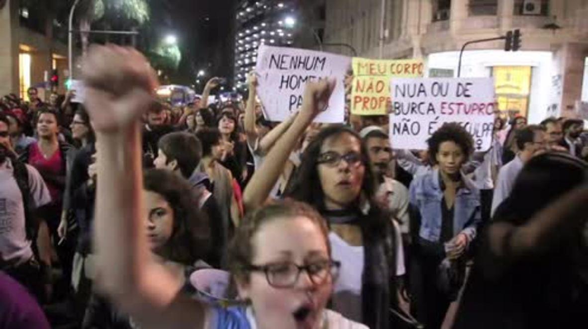 Brazil: Hundreds protest gang rape of 16-year-old girl in Rio de Janeiro