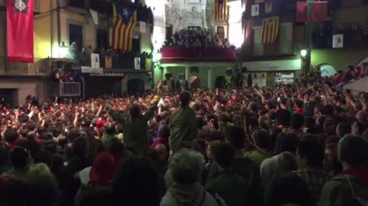 Spain: Catalans celebrate last day of La Patum festival