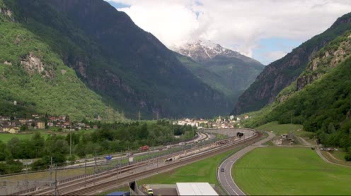 Switzerland: Opening of World's longest and deepest rail tunnel brings Merkel and Renzi