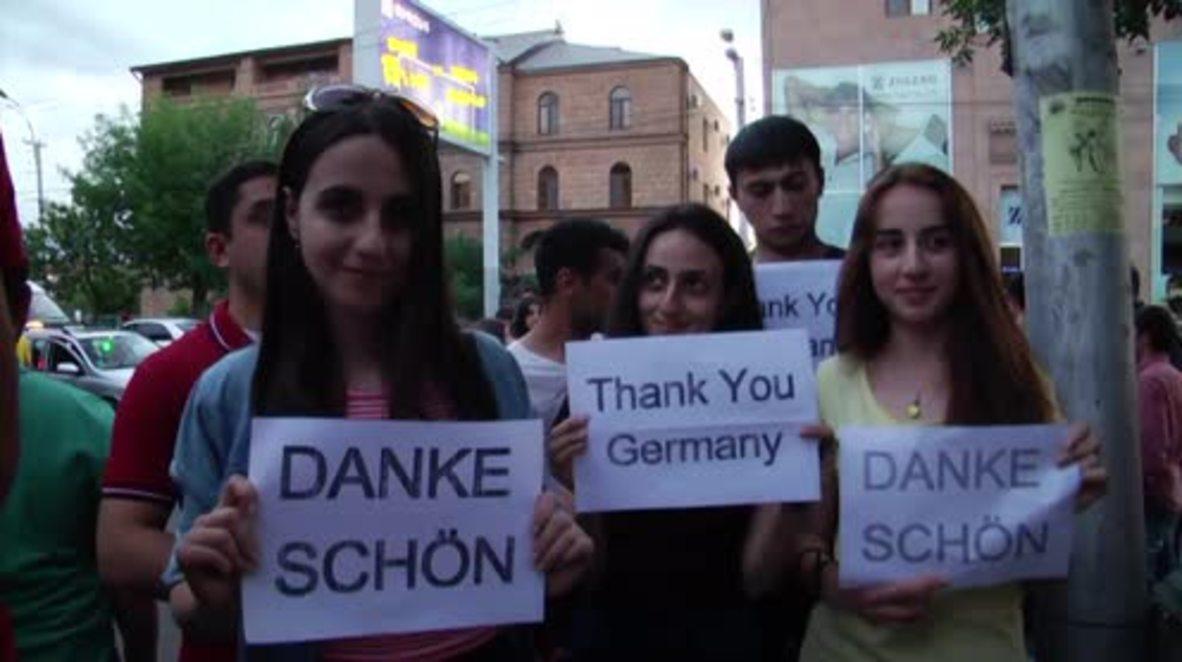 Armenia: Yerevanians celebrate Germany's recognition of Armenian genocide