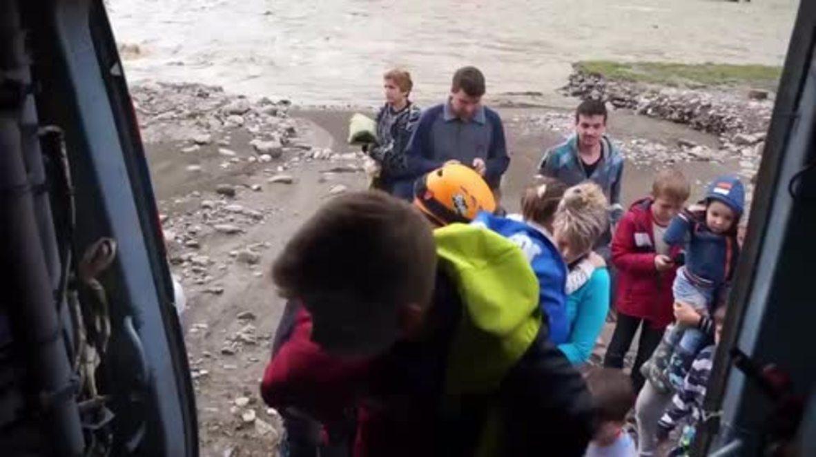 Russia: EMERCOM evacuates over 120 people as floods hit Sochi