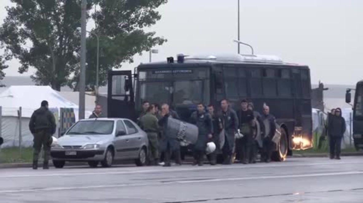 Greece: Police evacuate makeshift refugee camp near Polykastro