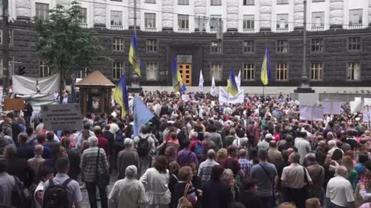 Ukraine: Protesting scientists slam govt. for 'killing science and education'