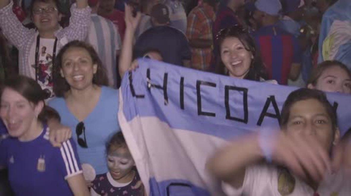 USA: Argentina fans celebrate after Messi inspires Venezuela thrashing