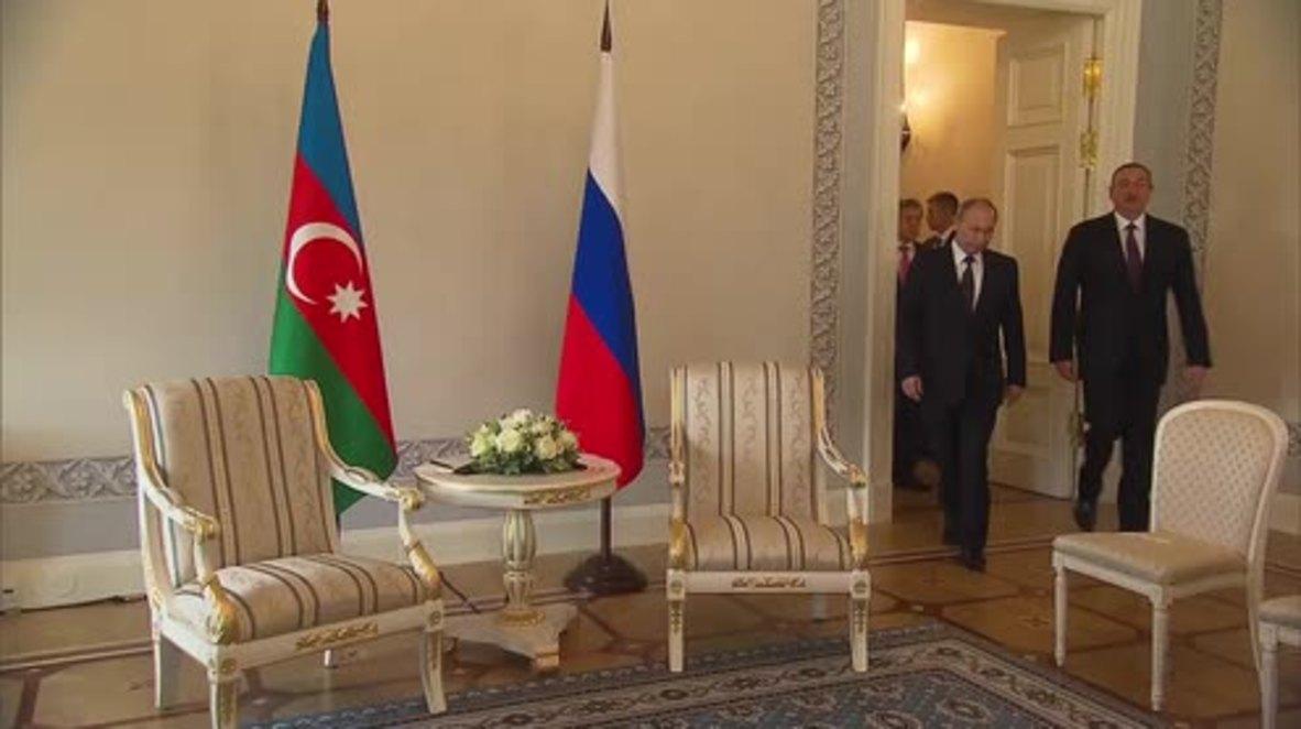 Russia: Putin talks Nagorno-Karabakh with Azerbaijani President Aliyev