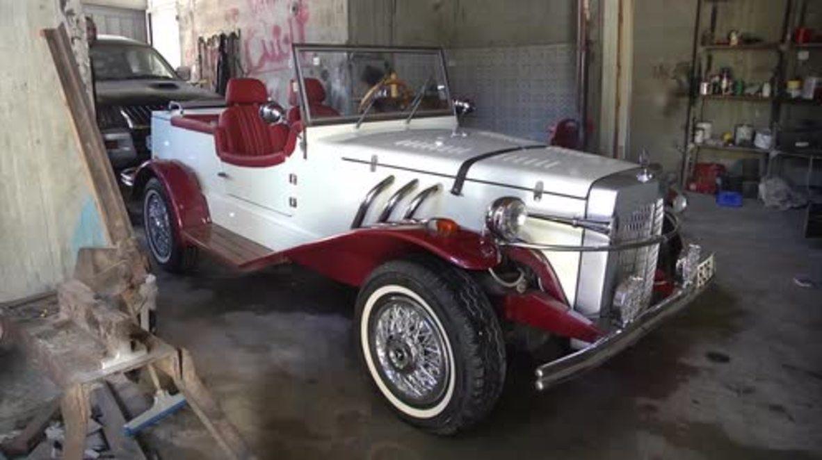 State of Palestine: Mercedes classic car replica proves to be head turner in Gaza