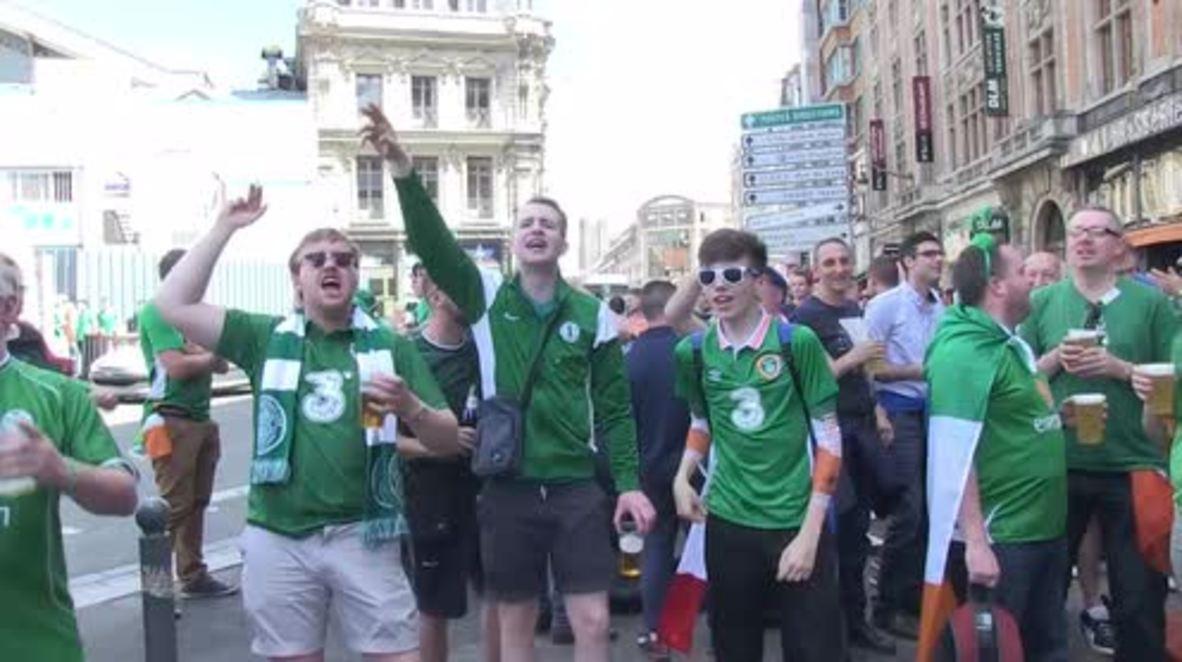 France: Irish football fans gear up crucial Italy match