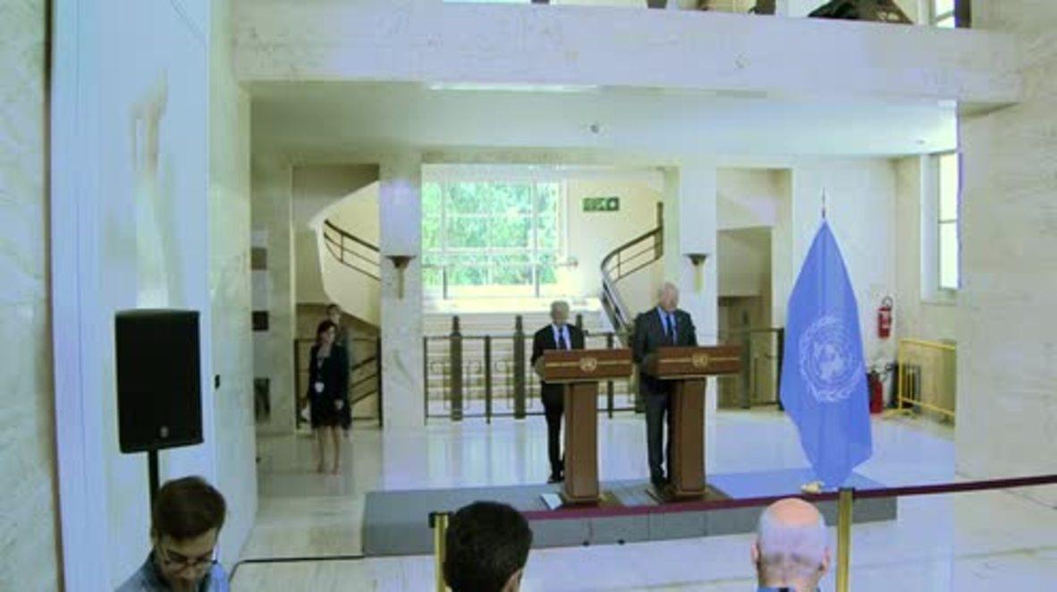 Switzerland: UN's Egeland warns of continued threats to Syria aid supplies