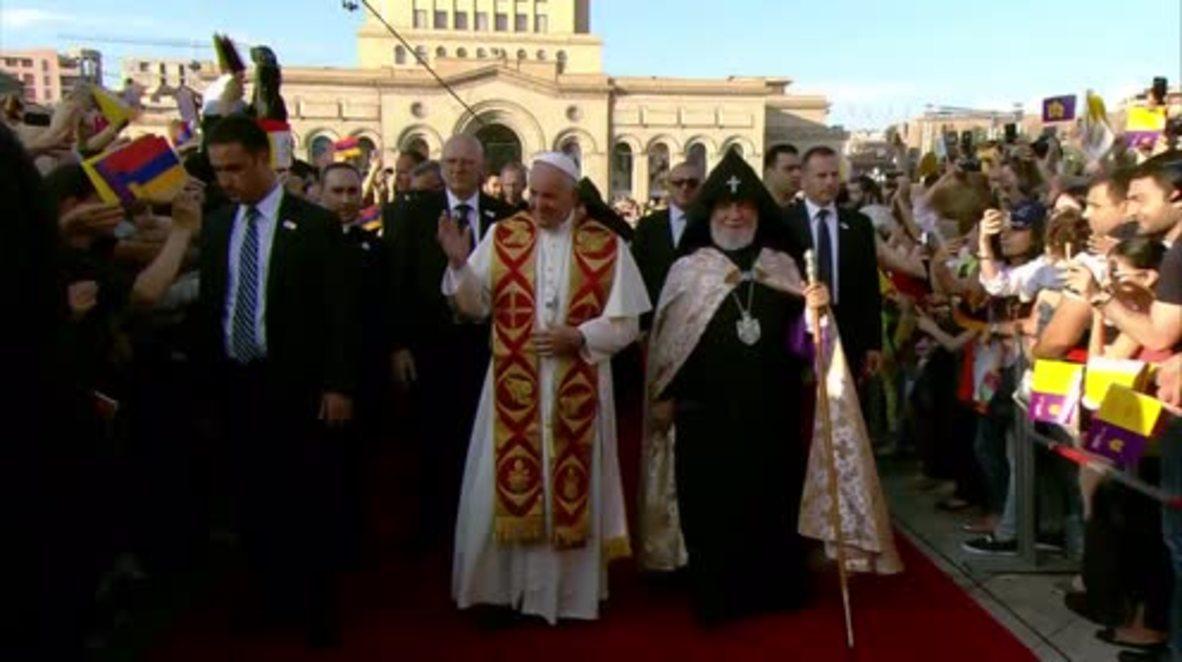 Armenia: Pope Francis calls for Turkish-Armenian reconciliation in Yerevan