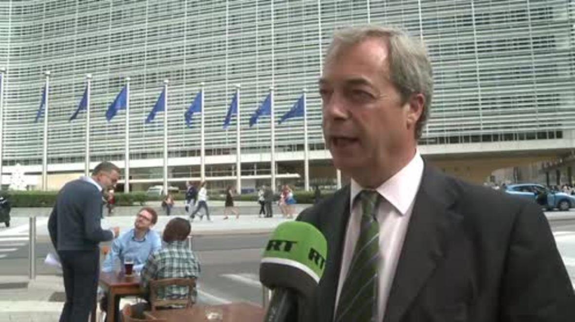 Belgium: Farage calls on UK to immediately trigger Article 50